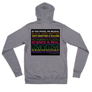 In this house - Unisex zip hoodie artists4israel