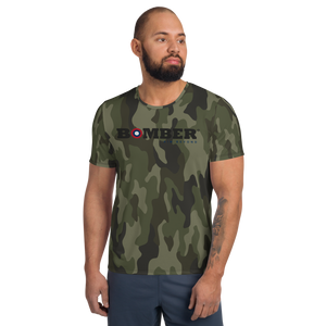 Bomber Camou - All-Over Print Men's Athletic T-shirt