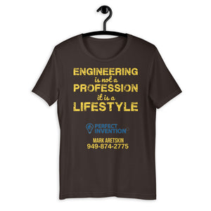 engineering is not a profession it is a lifestyle - Mark -Short-Sleeve Unisex T-Shirt