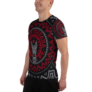 XOLOS XMAS PERRA NEGRA -All-Over Print Men's Athletic T-shirt
