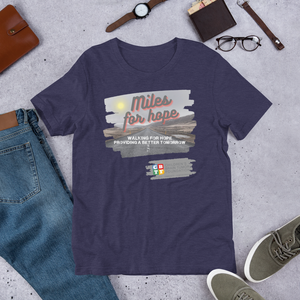 Miles for Hope - Short-Sleeve Unisex T-Shirt 2