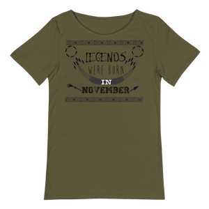 Legends were born in November - Men's Raw Neck Tee