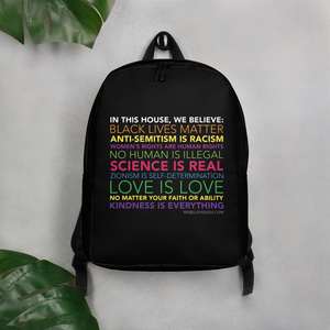 In thsi house - Minimalist Backpack Webelieve