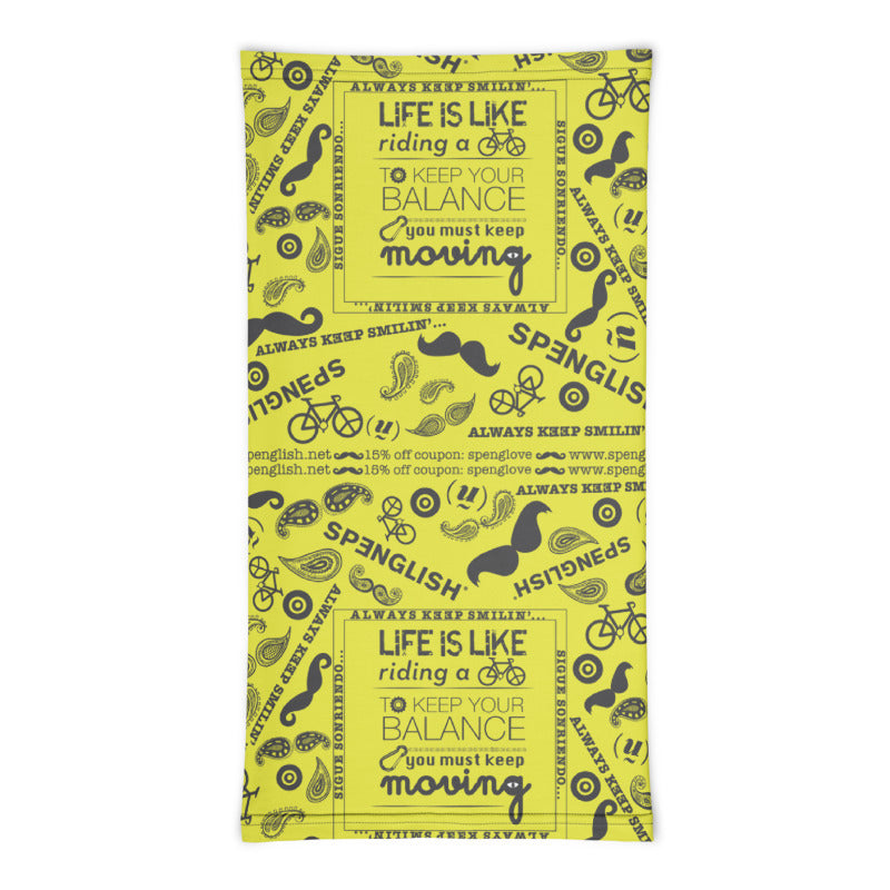 LIFE IS LIKE RIDING A BICYCLE - covi19 / mouth guard / cubre bocasNeck Gaiter