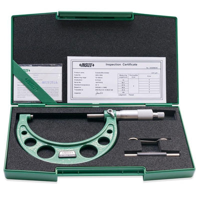 Insize 3203-100A : Outside Micrometer, 75-100mm
