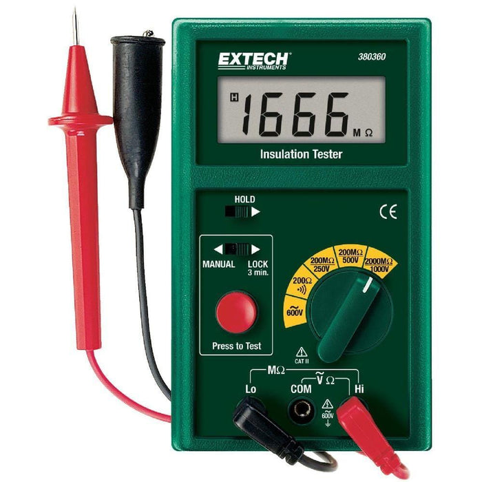 Extech 380360: Digital Megohmmeter - Anaum - Test and Measurement