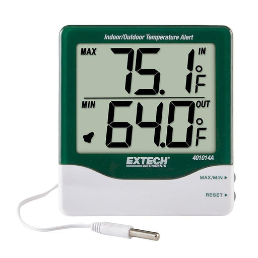 Extech 401014A: Big Digit Indoor/Outdoor Temperature Alert - Anaum - Test and Measurement