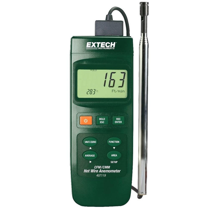 Extech 407119 : Heavy Duty CFM Hot Wire Thermo-Anemometer - Anaum - Test and Measurement