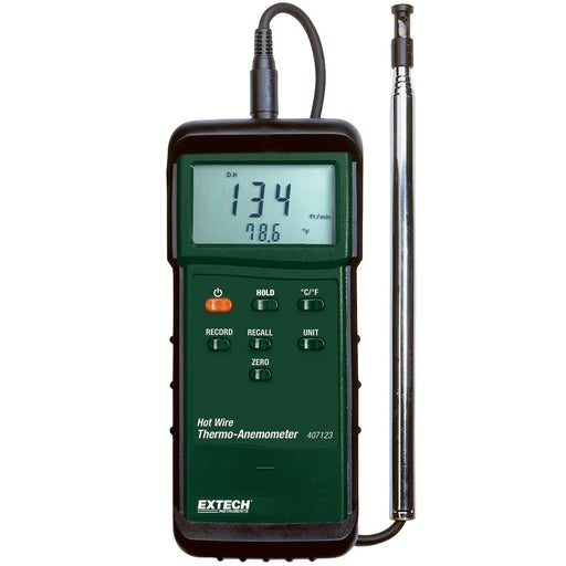Extech 407123 : Heavy Duty Hot Wire Thermo-Anemometer - Anaum - Test and Measurement