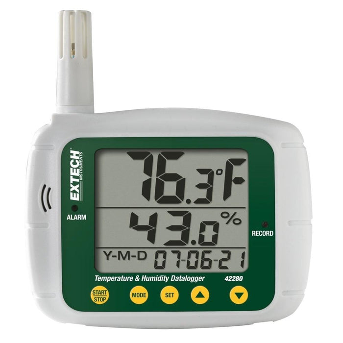 Extech 42280: Temperature and Humidity Datalogger - Anaum - Test and Measurement