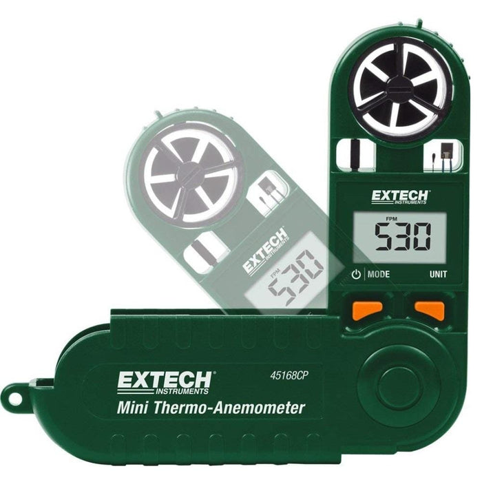 Extech 45168CP: Mini Thermo-Anemometer with Built-in Compass - Anaum - Test and Measurement