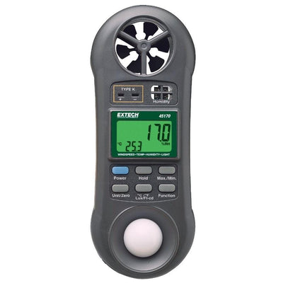 Extech 45170: Hygro-Thermo-Anemometer-Light Meter - Anaum - Test and Measurement