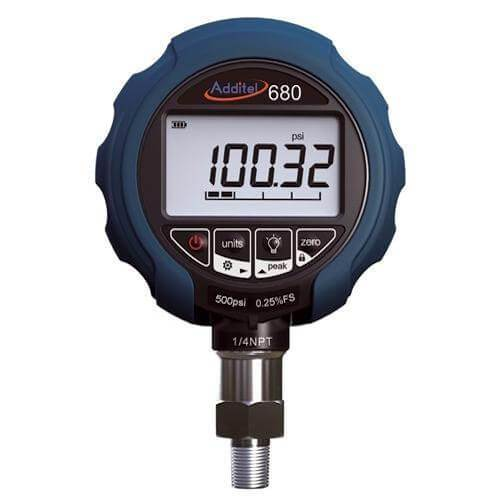 Additel ADT680-GP10K: Digital Pressure Gauge - 10,000psi (700bar) - Anaum - Test and Measurement