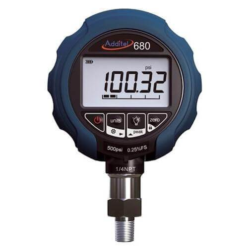 Additel ADT680-GP1K: Digital Pressure Gauge - 1000psi (70bar) - Anaum - Test and Measurement