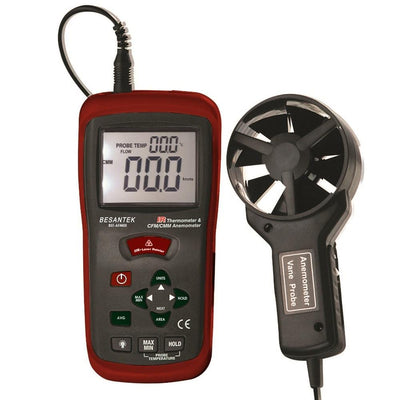 Besantek BST-AFM05 IR Thermometer & CFM/CMM Vane Anemometer - Anaum - Test and Measurement