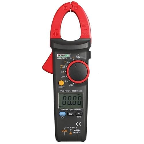 Besantek BST-CM74 : 400A True RMS AC/DC Clamp Meter + NCV - Anaum - Test and Measurement