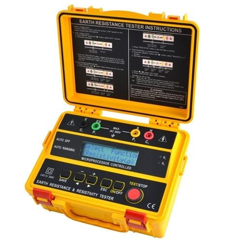 Besantek BST-ET103: 4 Wire Earth Resistance Tester & Resistivity Tester - Anaum - Test and Measurement