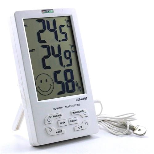 Besantek BST-HYG3 Large Display Thermo-Hygrometer with Alert - Anaum - Test and Measurement