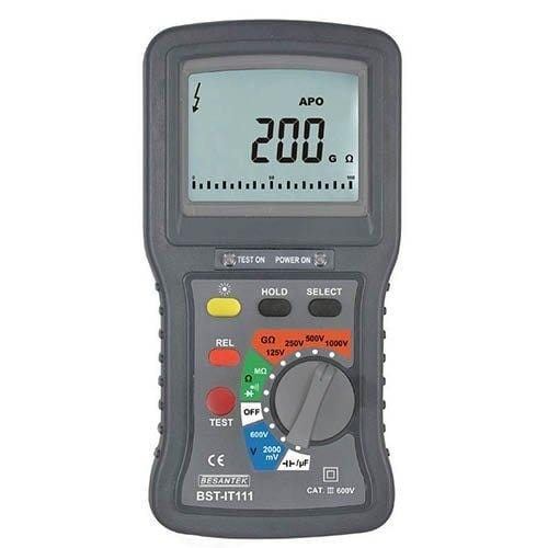 Besantek BST-IT111 : Digital Insulation Tester 1kV With Multi-Meter - Anaum - Test and Measurement