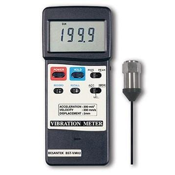 BESANTEK BST-VM02 Industrial Heavy Duty Vibration Meter - Anaum - Test and Measurement