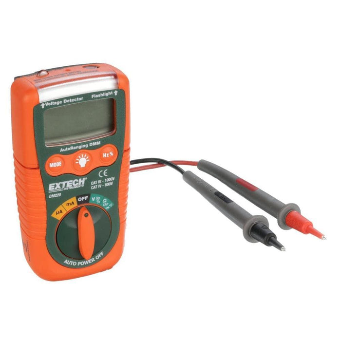 Extech DM220: Mini Pocket MultiMeter with Non-Contact Voltage Detector