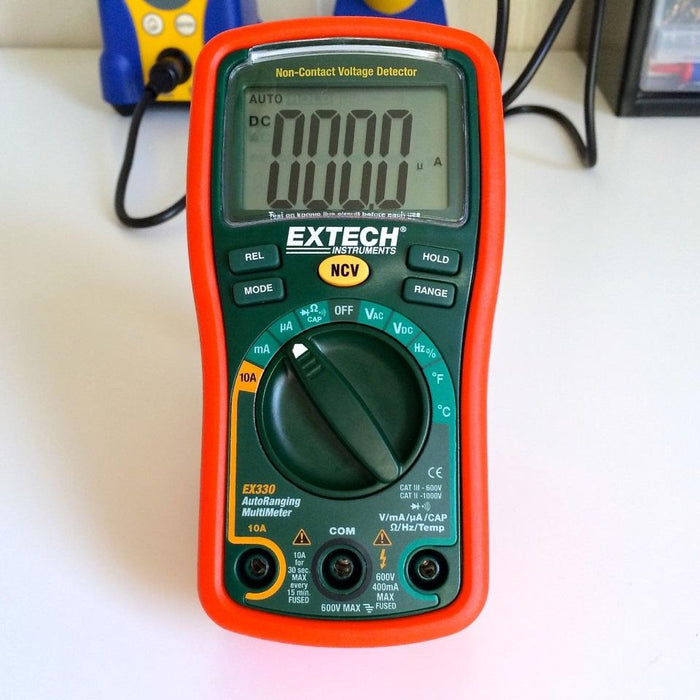 Extech EX330: 12 Function Mini MultiMeter + Non-Contact Voltage Detector
