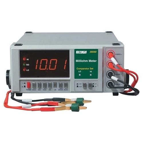 Extech 380562: High Resolution Precision Milliohm Meter (220VAC) - Anaum - Test and Measurement