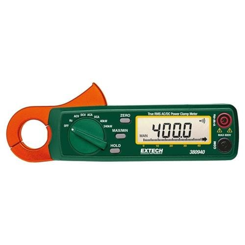 Extech 380940: 400A True RMS AC/DC Watt Clamp-on - Anaum - Test and Measurement