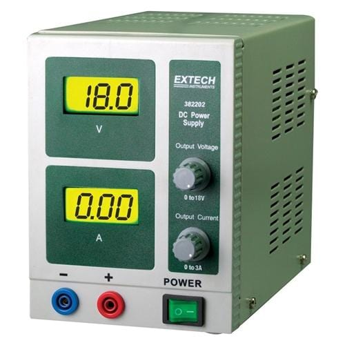 Extech 382202: 18V/3A Single Output DC Power Supply - Anaum - Test and Measurement