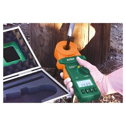 Extech 382357: Clamp-on Ground Resistance Tester - Anaum - Test and Measurement