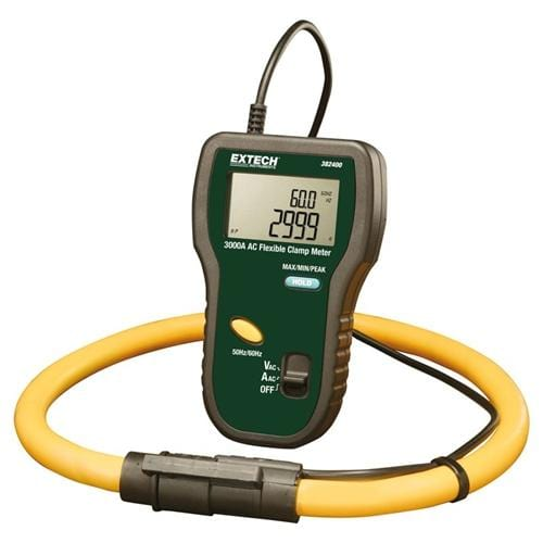 Extech 382400: Flexible True RMS 3000A AC Current Clamp - Anaum - Test and Measurement