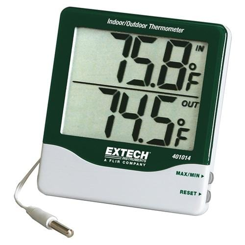 Extech 401014: Big Digit Indoor/Outdoor Thermometer - Anaum - Test and Measurement