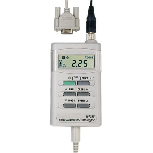 Extech 407355: Noise Dosimeter/Datalogger with PC Interface - Anaum - Test and Measurement
