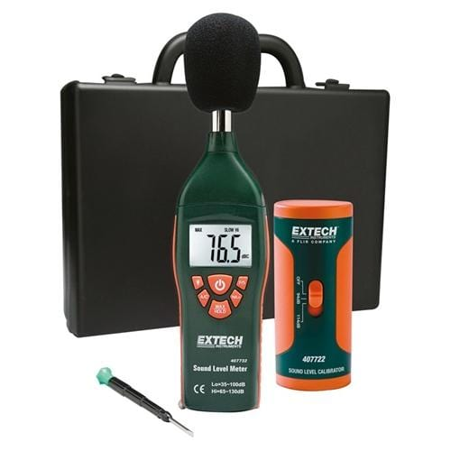 Extech 407732-KIT: Low/High Range Sound Level Meter Kit - Anaum - Test and Measurement