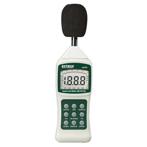 Extech 407750: Sound Level Meter with PC Interface - Anaum - Test and Measurement