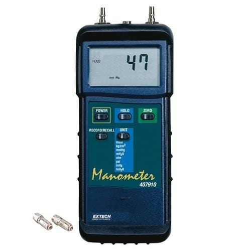 Extech 407910: Heavy Duty Differential Pressure Manometer (29psi) - Anaum - Test and Measurement
