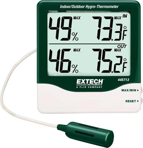 Extech 445713: Big Digit Indoor/Outdoor Hygro-Thermometer - Anaum - Test and Measurement