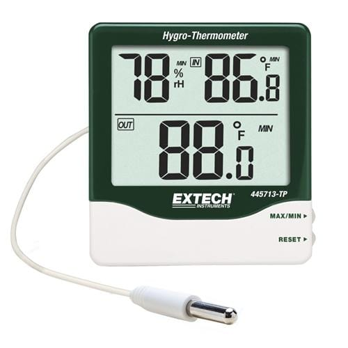 Extech 445713-TP: Big Digit Indoor/Outdoor Hygro-Thermometer - Anaum - Test and Measurement