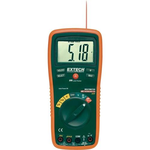 Extech EX450: 8 Function Professional MultiMeter + InfraRed Thermometer