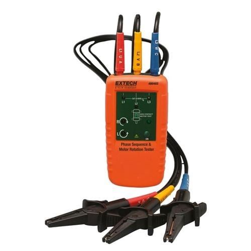 Extech 480403: Motor Rotation and 3-Phase Tester - Anaum - Test and Measurement