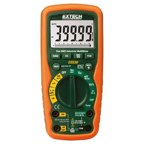 Extech EX530-KIT: Industrial MultiMeter Test Kit with Voltage Detector