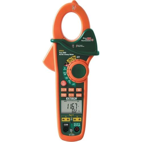 Extech EX623: 400A Dual Input AC/DC Clamp Meter + NCV + IR Thermometer