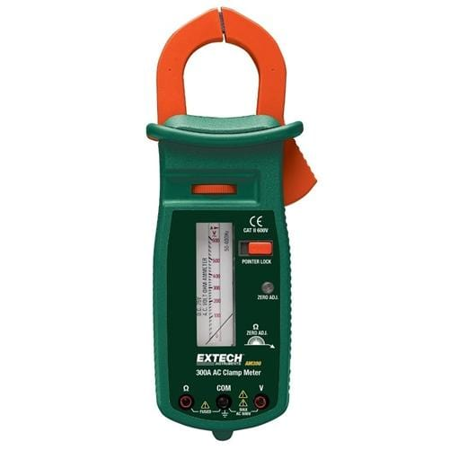 Extech AM300: 300A AC Analog Clamp Meter - Anaum - Test and Measurement