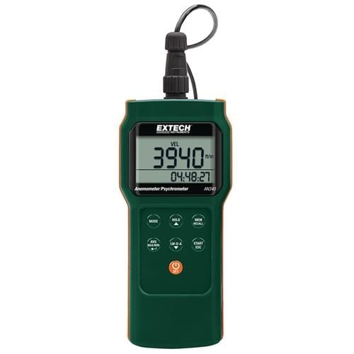 Extech AN340: CMM/CFM Anemometer/Psychrometer Datalogger - Anaum - Test and Measurement