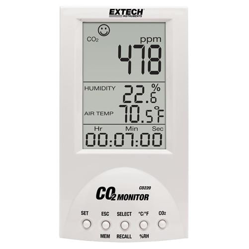 Extech CO220: Desktop Indoor Air Quality CO2 Monitor - Anaum - Test and Measurement