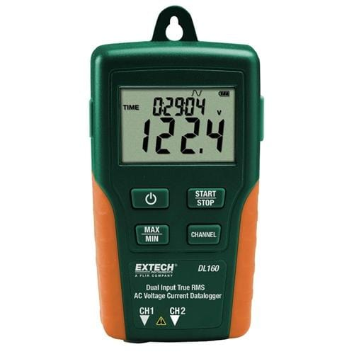 Extech DL160: Dual Input True RMS AC Voltage/Current Datalogger - Anaum - Test and Measurement