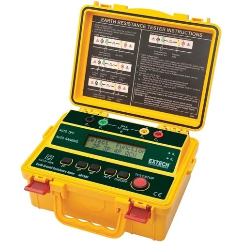 Extech GRT300: 4-Wire Earth Ground Resistance Tester Kit