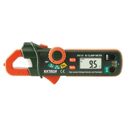 Extech MA150: 200A Mini AC Clamp Meter + NCV Detector