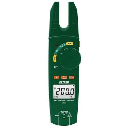 Extech MA160: True RMS 200A AC/DC Open Jaw Clamp Meter