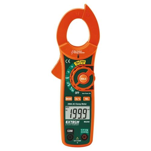 Extech MA250: 200A AC Clamp Meter + NCV
